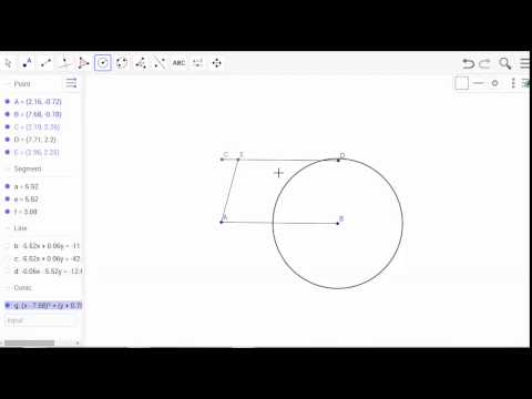 Constructing an isosceles trapezoid using geogebra