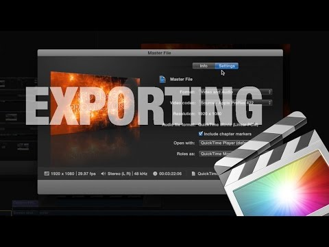 How to Export a small Video file in Final Cut Pro X