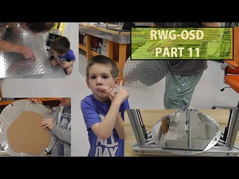 RWG OSD #11 Making The Bed Plate And Cutting Glass! OverSize Delta 3D Printer Build.