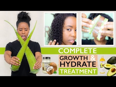 How to Grow & Hydrate Natural Hair and Transitioning Hair - Aloe Vera Oil Treatment