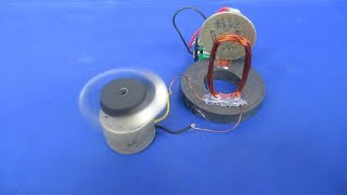 How to make zero energy fan with DC motor generator - Science in Hindi