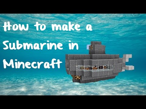 How to make a Quick and Easy Submarine in Minecraft!