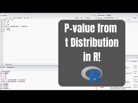 How to calculate a p-value from a t distribution in r