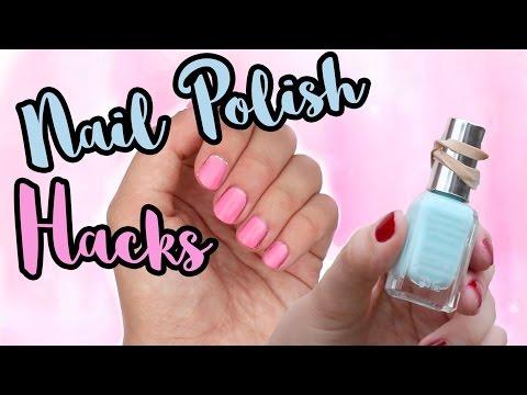 NAIL POLISH HACKS #1 - Cleaning brushes, DIY Dotting Tool etc...   Viki Nailbeauty