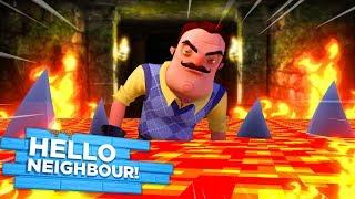 Minecraft HELLO NEIGHBOR - THE NEIGHBOR HAS CREATED LAVA SHARKS IN HIS BASEMENT!! - Donut the Dog