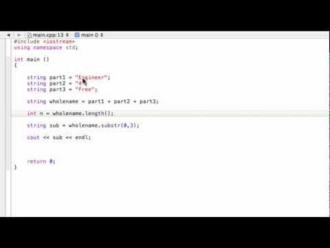 Using strings as variables (C++ programming tutorial)