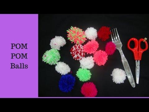 pom pom yarn ball diy.