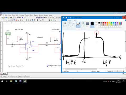 Op-Amp | Band Pass Filter 1st Order Circuit Simulation In Multisim
