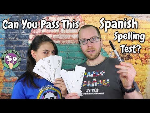 Spanish Spelling Test! | Can you spell better than Cody?