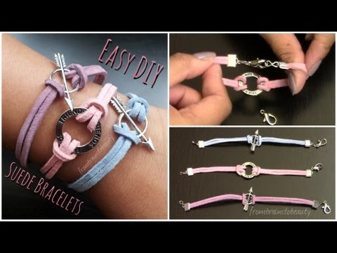 Easy DIY Suede Bracelet | Back to School Tutorial