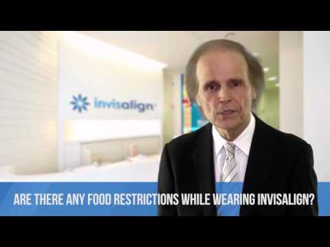 Are there any food restrictions while wearing Invisalign?
