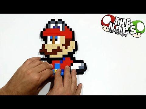 Handmade Pixel Art - How to build Lego Super Mario Odyssey | TheNocs