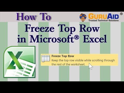 How to Freeze Top Row in Microsoft® Excel - GuruAid