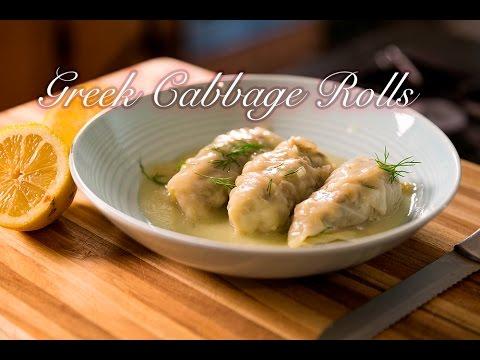 Greek Cabbage Rolls/ Lahanodolmades
