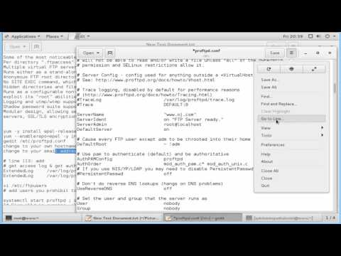 Install ProFTPD to configure FTP Server in centos 7