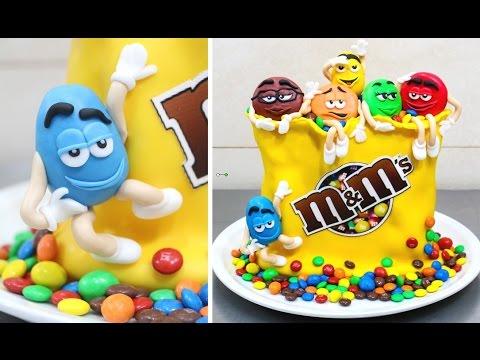 M&M's Funny Birthday Cake - How To Make by CakesStepbyStep