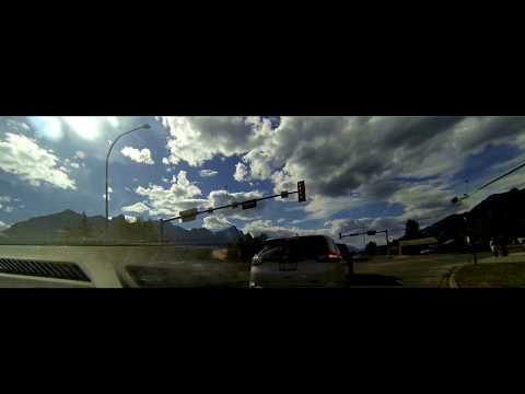 Canmore To Calgary Drive Lapse - Alberta Canada