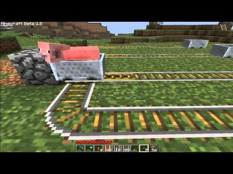 MINECRAFT:Super easy minecart station
