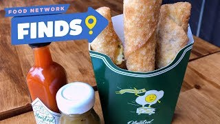 Bacon, Egg and Cheese EGG ROLLs at Olmsted | Food Network Finds