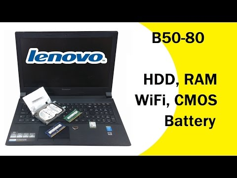 Lenovo B50-80 HDD Memory CMOS Battery WiFi Upgrade / Replacement