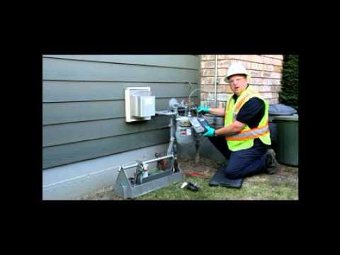 Testing an internal relief on a utility service regulator
