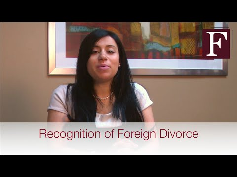 Recognition of Foreign Divorce