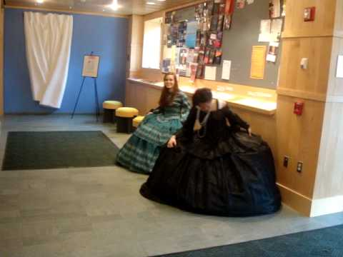 How not to sit in a hoop skirt (first try)