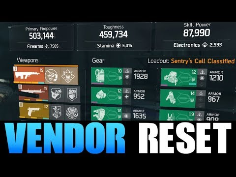 THE DIVISION - DECENT VENDOR RESET | GOD ROLL WEAPONS, GEAR & GEAR MODS! (YOU NEED TO BUY)