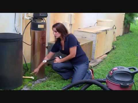 How to clean out your ac condensate drain with a new wet vacuum attachment from Diyvac.com