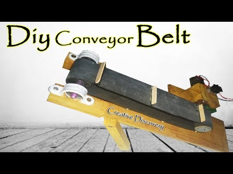 How to Make a Mini Conveyor Belt | Simple Conveyor AT Home | DIY Project