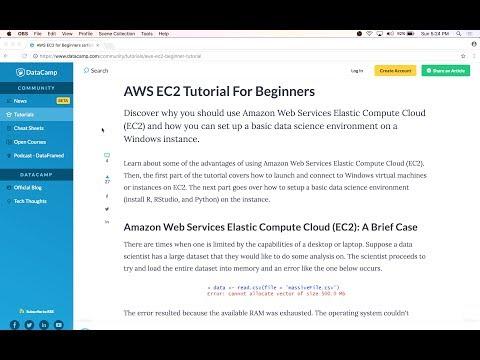 Setup Windows Server with Amazon Web Services (AWS) EC2  + Setup Data Science Environment