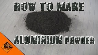 how to make aluminium powder without using foil