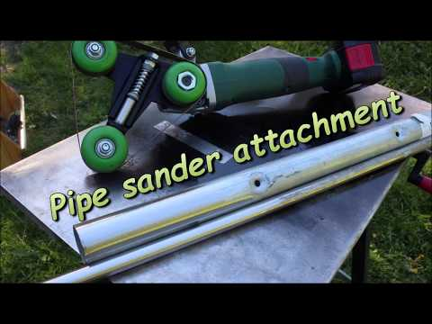 Angle grinder add - Fast mounted Pipe sander attachment -