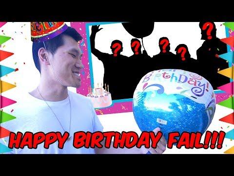 DERRICK'S SURPRISE BIRTHDAY FAIL!!! (WILD CARD)
