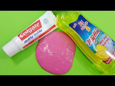 Dish Soap and Colgate Toothpaste Slime!! How to Make Slime Soap Salt and Toothpaste, NO GLUE !!