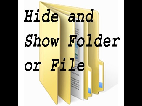How to hide and show hidden folder in windows 10 without any software