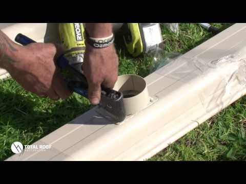 How to install a gutter pop