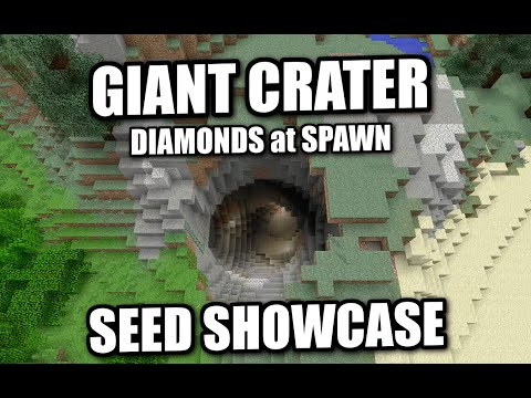Minecraft - GIANT CRATER [SCARY] & DIAMONDS [ Seed Showcase ] XBOX / MCPE /PS4 / PS3 / Switch