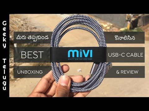 Best USB Type C Cable Unboxing & Review | Telugu | Geeky Telugu