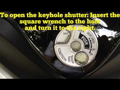 How to Open Yamaha Motorcycle Ignition Switch Key Hole Shutter