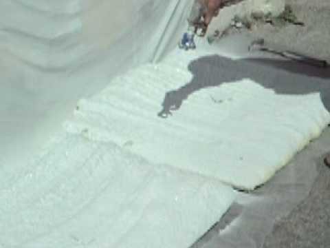 TPR2 Fireshell(R) coatings- spray trainee on sprayfoam insulation