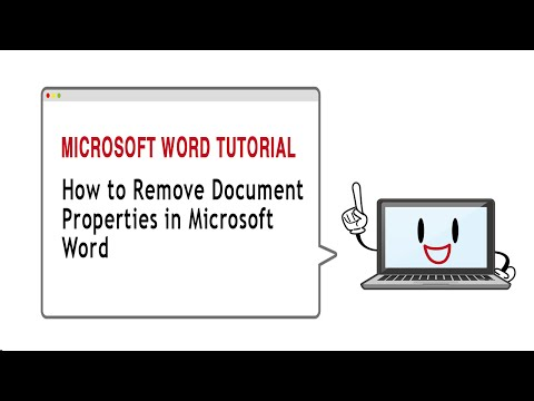 How to Remove Document Properties in Microsoft Word 2010