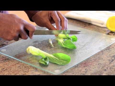 Cutting Bok Choy on a Diagonal : Preparing Healthy Foods