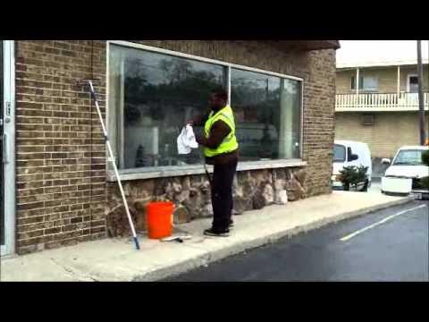White Glove window washing demonstration