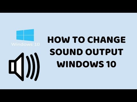 How to Change Sound Output Windows 10   PC & Laptop Easy Tutorials In Hindi