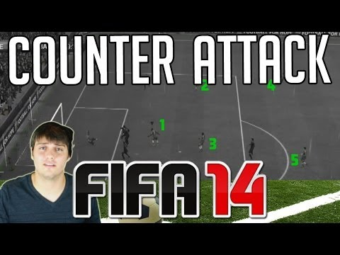 FIFA 14 Tutorials & Tips | How to Counter Attack | Using Quick Tactics / Mentality (Best FIFA Guide)