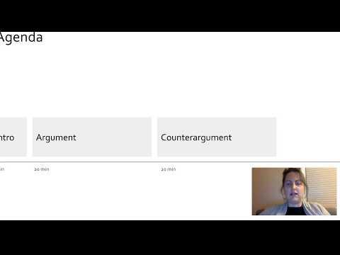 How I make a visual agenda slide