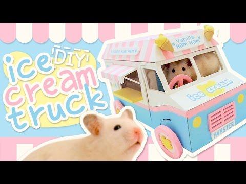 🍦 Ice Cream Truck Hideout 🍦 HAMSTER DIY