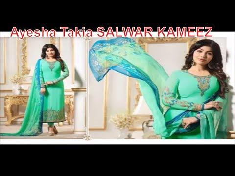 Latest Indian dresses collections 2018 || Ayesha Takia SALWAR KAMEEZ
