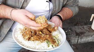 Raju Ke Meat Chawal | Cheapest Mutton Curry & Rice 150 Rs | Mutton Thali |Jammu food tour